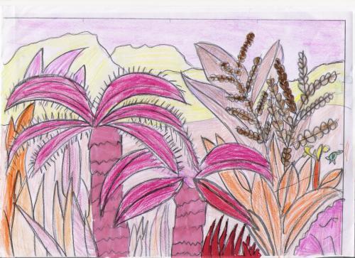 paisaje jurásico rosado1