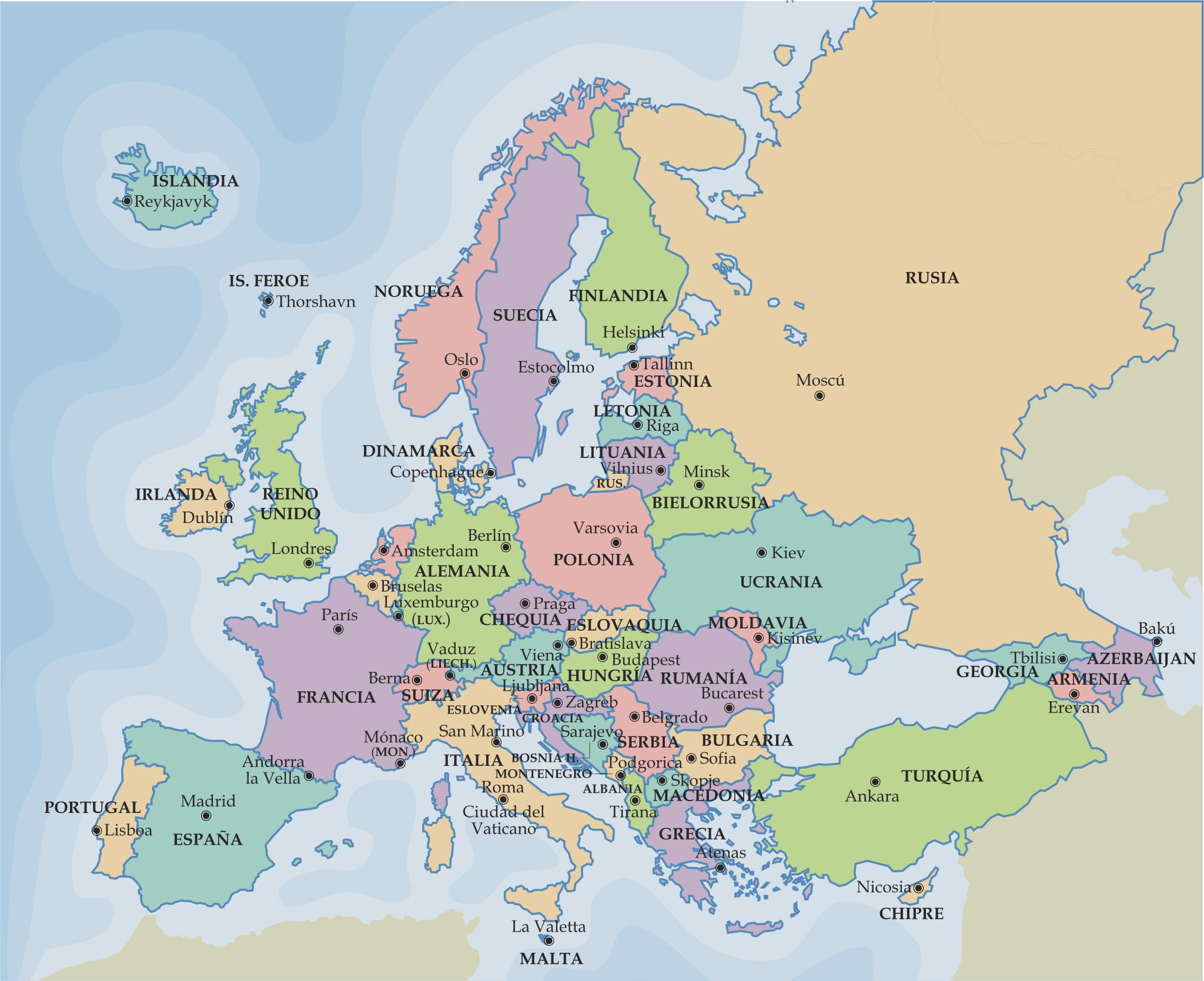 Eslovenia Mapa Europa