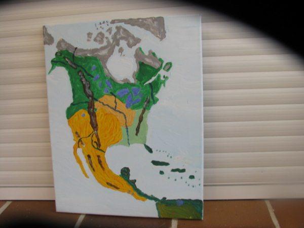 Geograf a acr lico sobre lienzo hectorsaurius park - Acrilico sobre lienzo ...